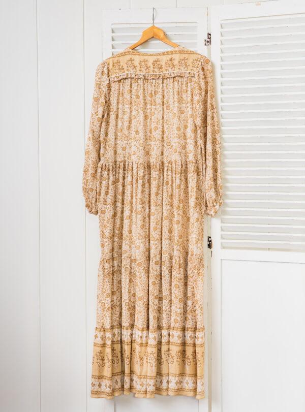 Vestido Pam Beige espalda